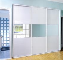 Ed system nos produits portes - Porte placard coulissante verre laque blanc ...
